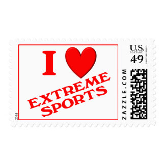 I Love Extreme Sports Stamp