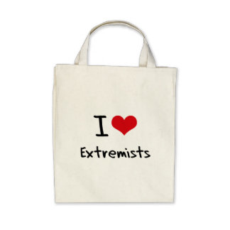 I love Extremists Canvas Bag