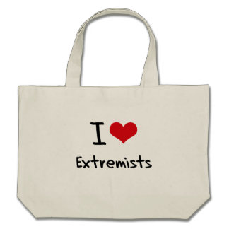 I love Extremists Canvas Bags