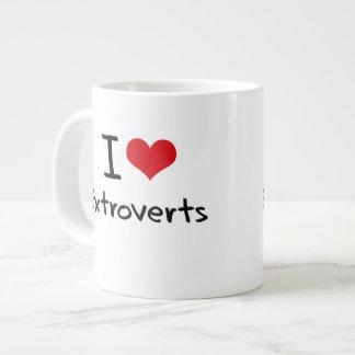 I love Extroverts Extra Large Mug