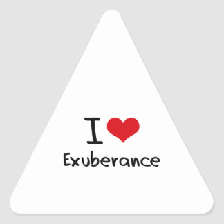 I love Exuberance Triangle Stickers