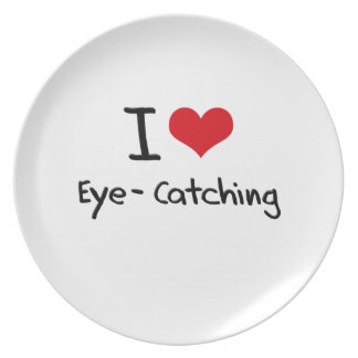 I love Eye-Catching Party Plate