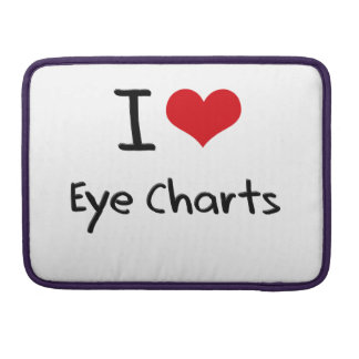 I love Eye Charts MacBook Pro Sleeve