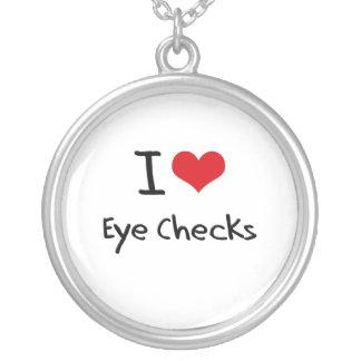 I love Eye Checks Custom Necklace