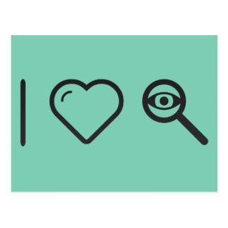 I Love Eye Examines Postcard