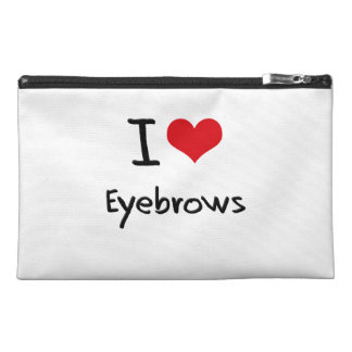I love Eyebrows Travel Accessory Bags
