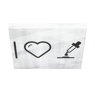 I Love Eyedroppers Canvas Print