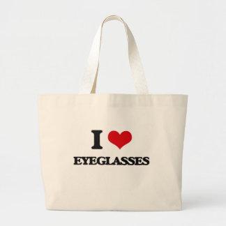 I love EYEGLASSES Canvas Bag