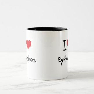 I love Eyelashes Two-Tone Coffee Mug