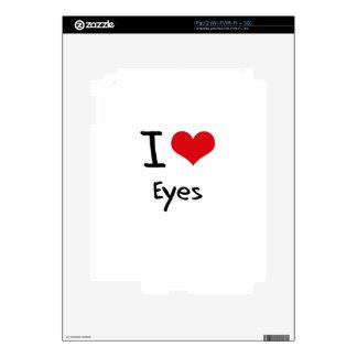 I love Eyes Skins For iPad 2