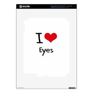 I love Eyes Skin For iPad 3