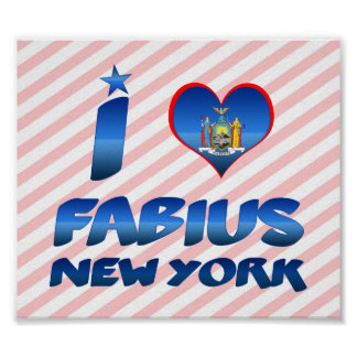 I love Fabius, New York Print