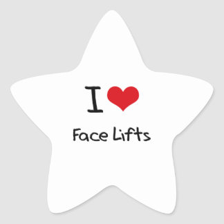 I Love Face Lifts Star Stickers