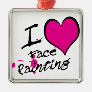 I Love Face Painting Christmas Ornament