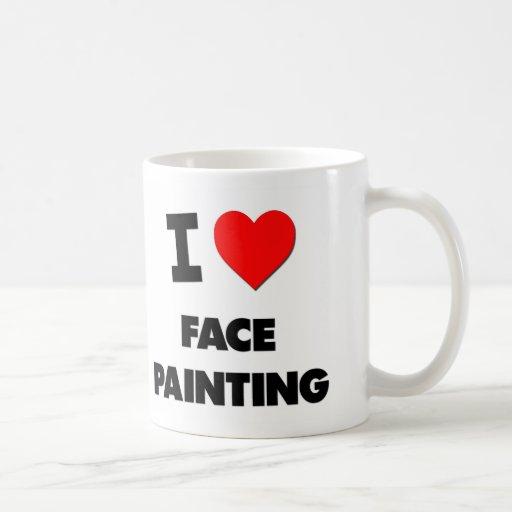 I Love Face Painting Classic White Coffee Mug