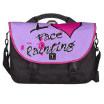 I Love Face Painting Laptop Bags