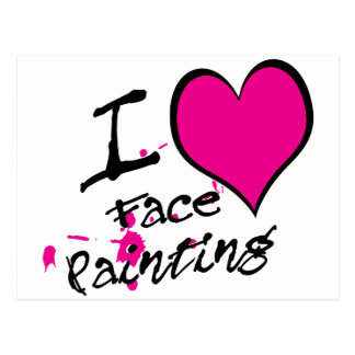 I Love Face Painting Postcard