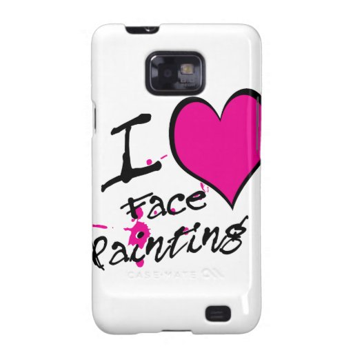 I Love Face Painting Samsung Galaxy SII Cover