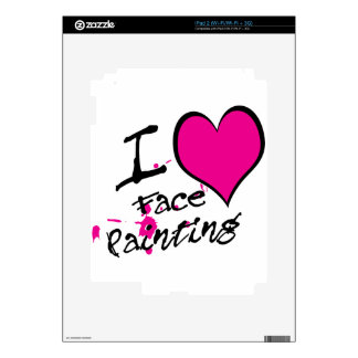 I Love Face Painting Decal For The iPad 2