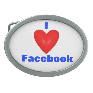 I love facebook belt buckle