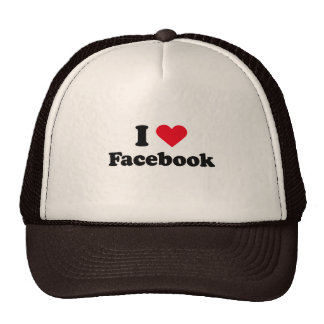 I love Facebook T-shirt Trucker Hat