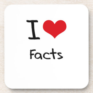 I Love Facts Beverage Coaster