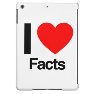 i love facts iPad air cover