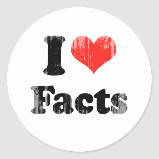 I LOVE FACTS.png Sticker