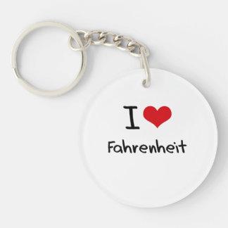 I Love Fahrenheit Double-Sided Round Acrylic Keychain