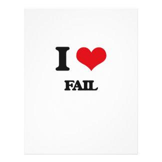 I love Fail Flyer Design