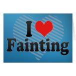 I Love Fainting Cards