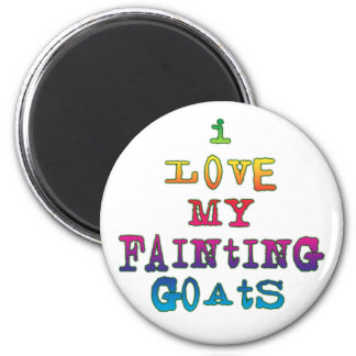I Love Fainting Goats 2 Inch Round Magnet