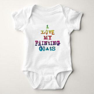 I Love Fainting Goats Baby Bodysuit