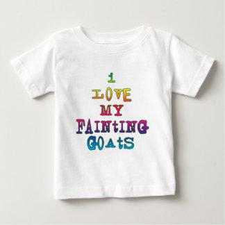 I Love Fainting Goats Baby T-Shirt