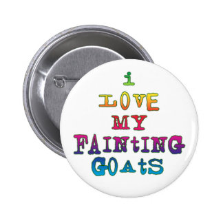 I Love Fainting Goats 2 Inch Round Button