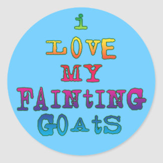 I Love Fainting Goats Classic Round Sticker
