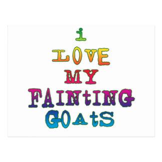 I Love Fainting Goats Postcard