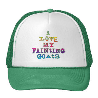 I Love Fainting Goats Trucker Hat