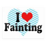 I Love Fainting Post Card