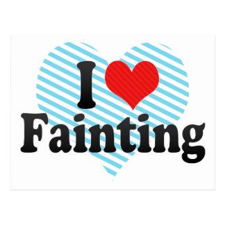 I Love Fainting Postcard