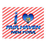 I love Fair Haven, New York Postcard