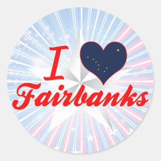 I Love Fairbanks, Alaska Classic Round Sticker