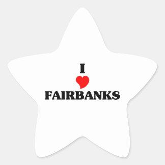 I love Fairbanks Star Sticker