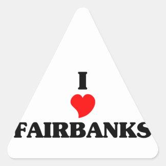 I love Fairbanks Triangle Sticker