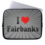 I Love Fairbanks, United States Computer Sleeve