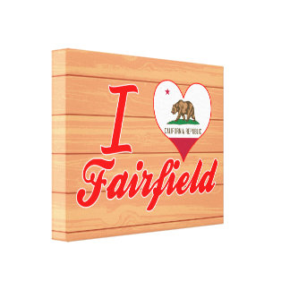 I Love Fairfield, California Stretched Canvas Print
