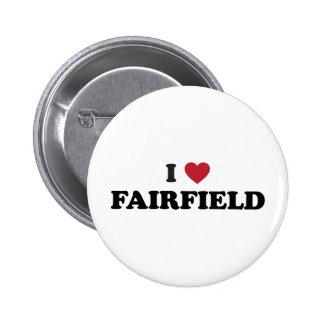 I Love Fairfield California Pinback Button