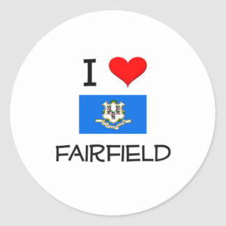 I Love Fairfield Connecticut Stickers