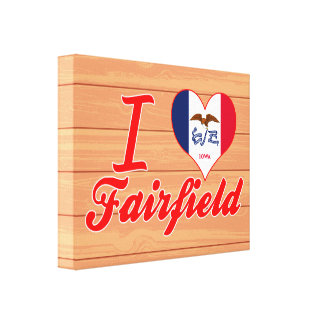 I Love Fairfield, Iowa Stretched Canvas Print