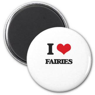 I love Fairies 2 Inch Round Magnet